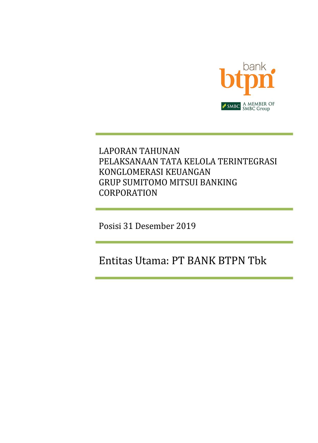 Laporan Tahunan Pelaksanaan Tata Kelola Terintegrasi Konglomerasi Keuangan
